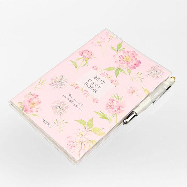 『2017年版ポケットダイアリー』 お花のイラストが美しい「カントリータイム 花柄」♪