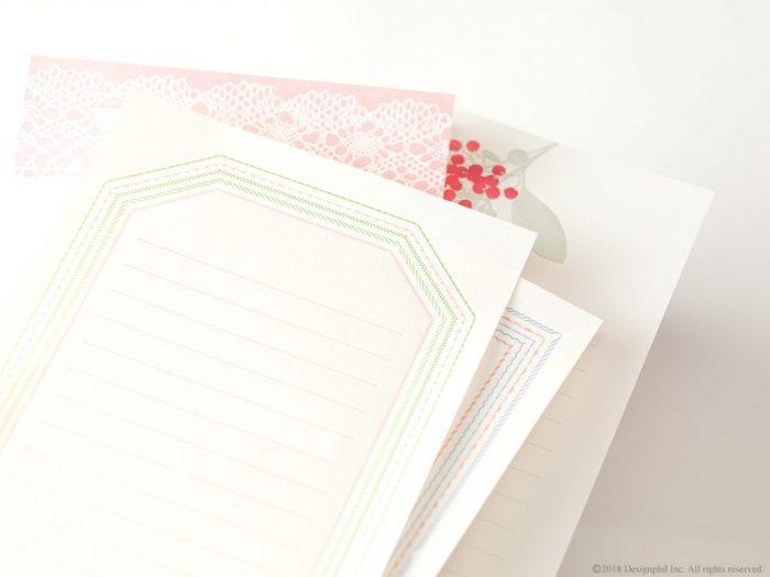 素朴な温かみのある活版印刷のレターセット