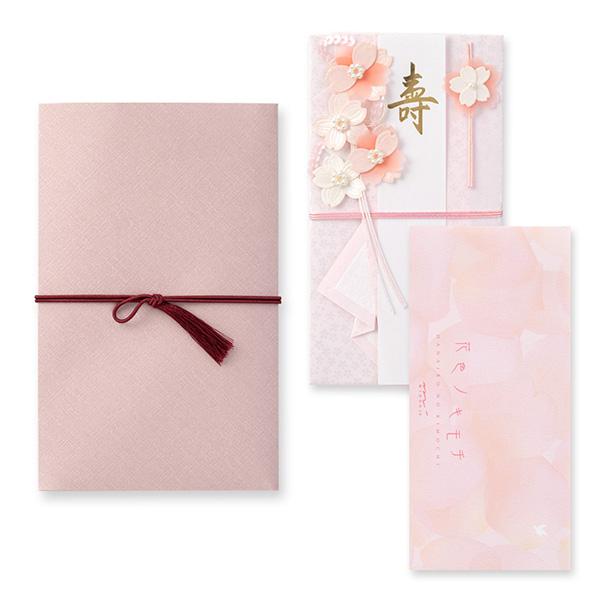 【ストア限定】ひとこと添えて贈る金封セット 結婚祝 桜ピンク柄(91803784)