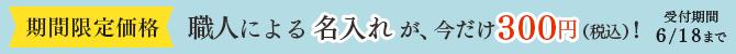 「名入れ」300円キャンペーン